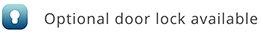 Optional door lock available